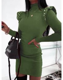 Šaty - kód 2323 - olivová  zelená