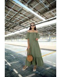 Šaty - kód 3636 - olivová  zelená