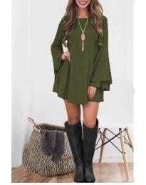 Šaty - kód 8102 - olivová  zelená