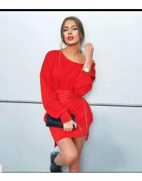 Šaty - kód 854 - 2 - červená