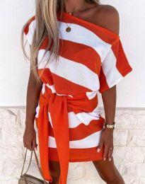 Šaty - kód 4633 - oranžová