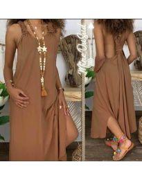 Šaty - kód 9597 - hněda