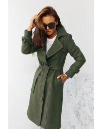 Kabát - kód 1500 - olivová  zelená
