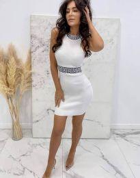 Šaty - kód 2593 - bílá
