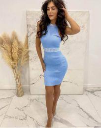 Šaty - kód 2593 - světle modrá