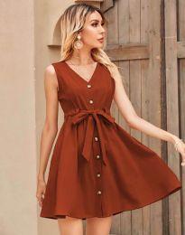 Šaty - kód 8188 - měděná hnědá