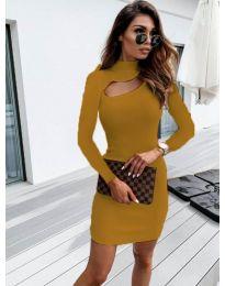 Šaty - kód 883 - hořčičná