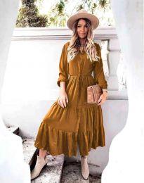 Šaty - kód 6522 - hněda