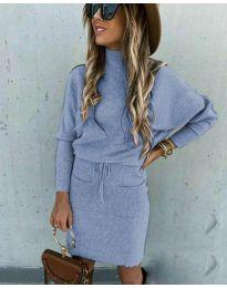 Šaty - kód 1924 - modrý