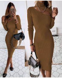 Šaty - kód 149 - hněda