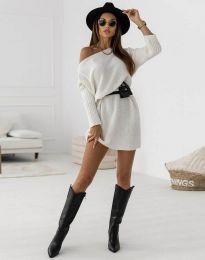 Šaty - kód 6940 - bíla