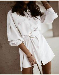 Šaty - kód 6461 - bílá