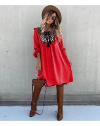 Šaty - kód 958 - červená