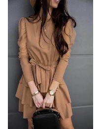 Šaty - kód 8384 - cappuccino