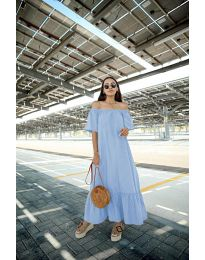 Šaty - kód 3636 - modrý