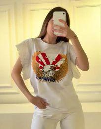 Tričko - kód 1436 - 1 - bílá