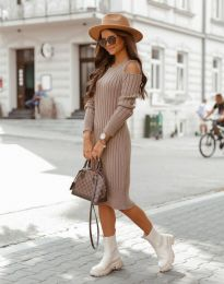 Šaty - kód 8203 - cappuccino
