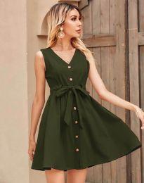 Šaty - kód 8188 - olivová  zelená