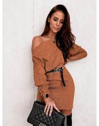 Šaty - kód 4442 - hněda