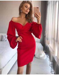 Šaty - kód 6761 - červená