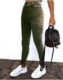 Kalhoty - kód 2528 - 1 - olivová  zelená