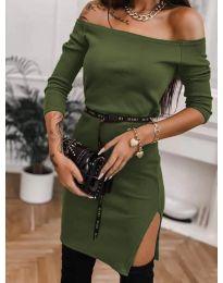 Šaty - kód 4720 - olivová  zelená