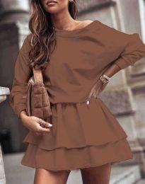 Šaty - kód 0525 - hněda