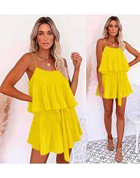 Volné šaty žluté barvy - kód 721