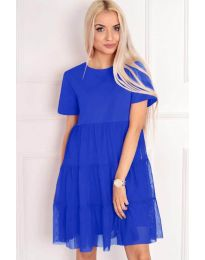 Šaty - kód 417 - modrá