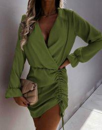 Šaty - kód 4271 - olivová  zelená