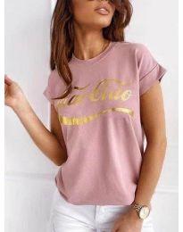 Tričko - kód 3659 - pudrová