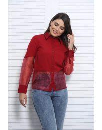 Košile - kód 0638 - 4 - bordeaux