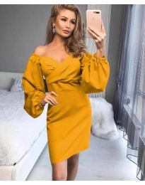 Šaty - kód 6761 - žlutá