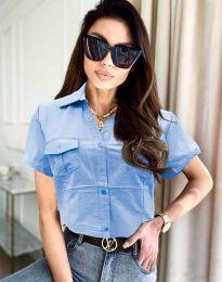 Košile - kód 0627 - 4 - světle modrá