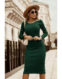 Šaty - kód 8485 - olivová  zelená