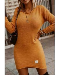 Šaty - kód 0824 - hořčičná